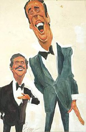 Dan Rowan and Dick Martin as caricatured for N...