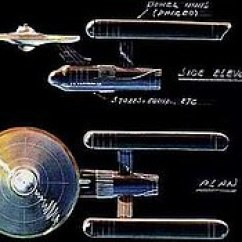 Uss Enterprise Diagram 84 Yamaha Virago Wiring Ncc 1701 Wikipedia An Overhead And Side Elevation Of The Starship