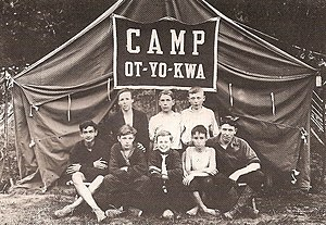 A Camp Fitch Tent Group