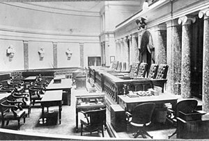 The Old Senate Chamber during the US Supreme C...