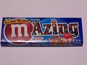 Wrapper of an M-Azing bar.
