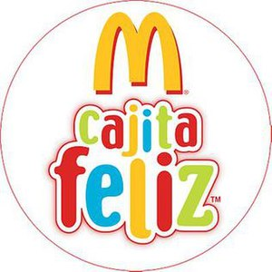 McDonald's Happy Meal logo in Spanish