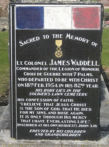 Headstone of Lieutenant Colonel James Waddell ...