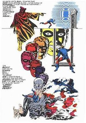 Steranko's signature surrealism. Inking by Joe Sinnott.