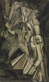 Marcel Duchamp. Nude Descending a Staircase, No. 2 (1912). Oil on canvas.  57 7/8