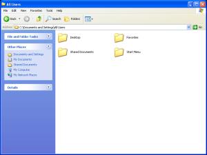 Windows Explorer in Windows XP