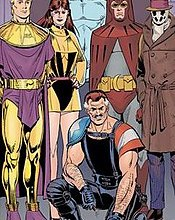 """Bilde av """"heltene"""" i Watchmen"""