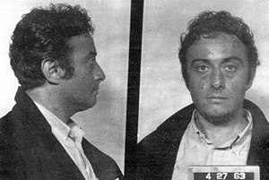 Mugshot taken of Lenny Bruce, taken following ...