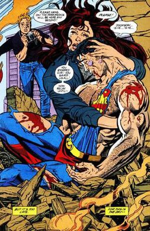 Art from Superman #75 (January 1993), where Su...