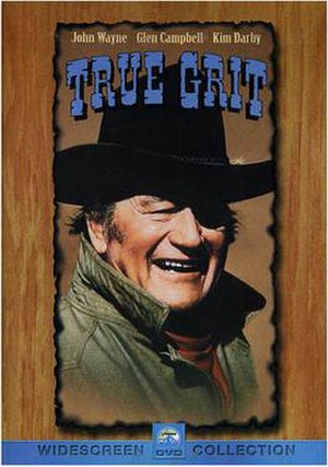 John Wayne as Rooster Cogburn in True Grit.