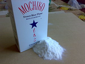 a box of rice flour