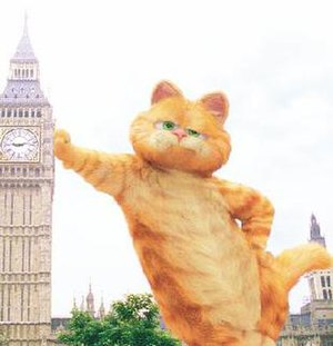 The CGI version of Garfield, as seen in Garfie...
