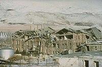 Earthquake damage in Armenia (1988).
