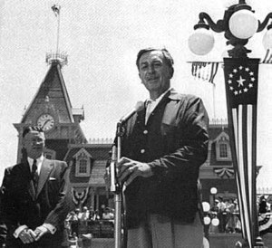 Walt Disney giving the dedication day speech J...