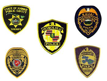 Hawaii Police Patches