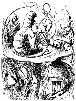 """""""Alice meets the Caterpillar"""", from ..."""