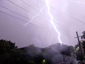 Lightning Strike In Sydney