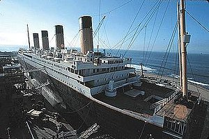 The reconstruction of the RMS Titanic. The blu...