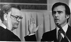 California Chief Justice Donald Wright (left) ...