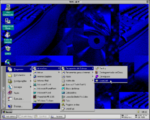 Connectix Virtual PC version 3 in Mac OS 9, ru...