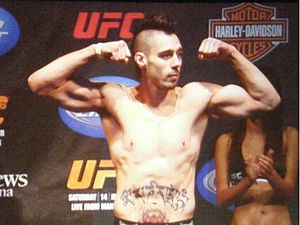Dan Hardy at UFC 105 Weigh Ins they are