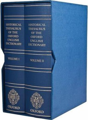 The Historical Thesaurus of the Oxford English...