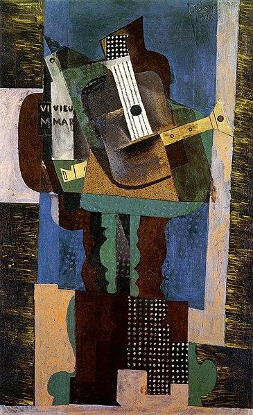 FilePablo Picasso 1916 Guitare clarinette et bouteille