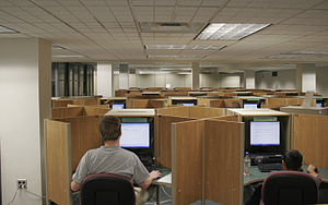 Computer cubicles inside the Digital and Multi...