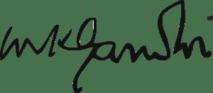 Signature of M.K. Gandhi