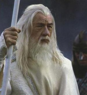 Ian McKellen as Gandalf in Peter Jackson's liv...