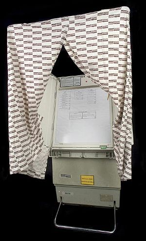 Similar to lever voting machines, the electrom...