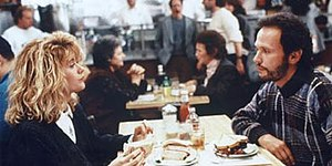 Film still from the famous restaurant scene