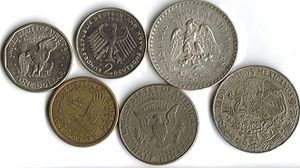 Coins featuring eagles.