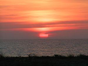 Sunset over the South China Sea at Barangay Be...