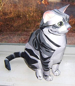 Example of a cat papercraft