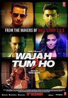 Sana Khan's Wajah Tum Ho poster.jpg