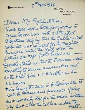 Letter from Lady Helena Gleichen addressing th...