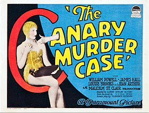 Poster for the movie The Canary Murder Case (1...