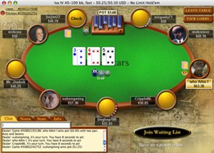 "Screenshot of the Pokerstars GUI (the ""cl..."