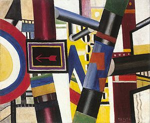 The Railway Crossing, 1919, oil on canvas, 53....
