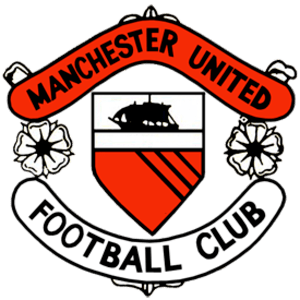 Club crest of Manchester United F.C. in the 19...