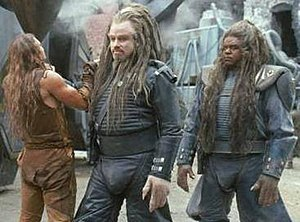 Scene from Battlefield Earth, showing (left to...