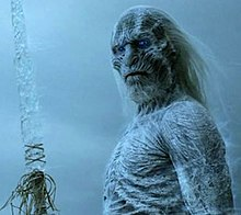 A White Walker with an ice sword, from Game of Thrones