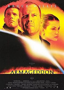 Armageddon movie poster: aaah, at last, a real, non deniable threat!