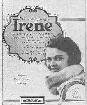 Day on the cover of sheet music for Irene