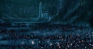 The Battle of Helm's Deep in Peter Jackson's T...