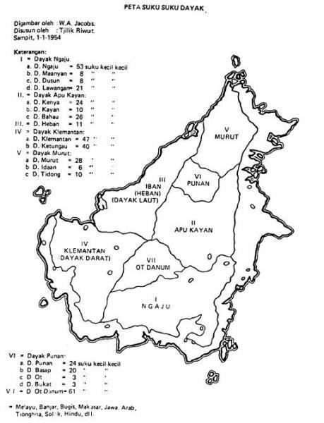 Peta Kalimantan Hitam Putih : kalimantan, hitam, putih, Rumpun, Danum, Wikiwand
