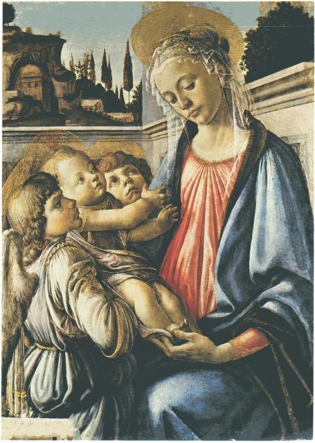 Madonna col Bambino e due angeli Botticelli  Wikipedia
