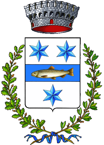 Olivetta San Michele coat of arms, with trout