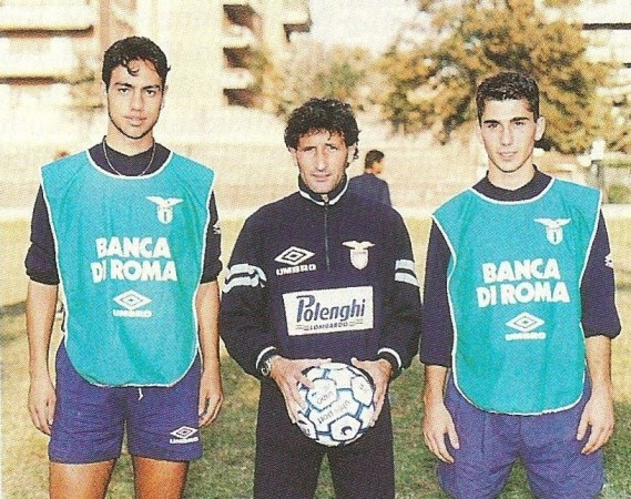 Nesta with Lazio's youth side in the early 90's, Source: www.cittaceleste.it